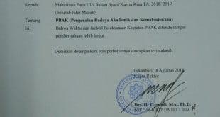 PBAK 2018-2019 ditunda