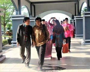 atraksi Kompang Mengiringi Kedatangan para Asesor