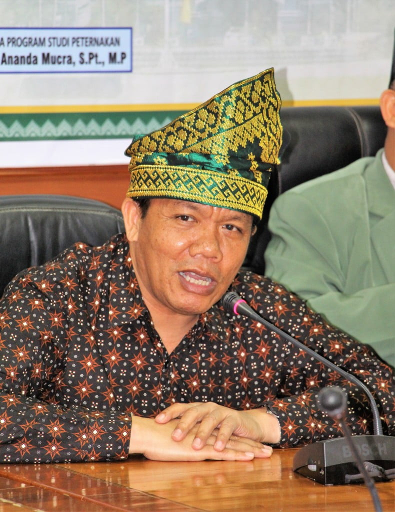 Sambuta darislah satu Asesor BAN PTProf. Dr. Jonson Naiborhu, M.Si dari Institut Teknologi Bandung