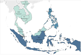 Total Kasus Covid-19 di Negara ASEAN (Last Updated 22 Maret 2020)