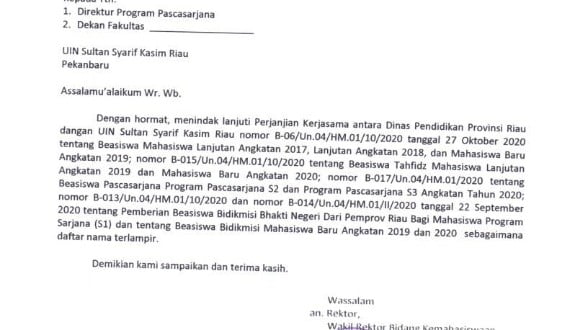 Pengumuman Kelulusan Beasiswa Dinas Pendidikan Prov. Riau_001