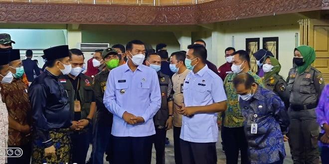 Walikota dan Rombongan Tinjau lokasi Vaksin