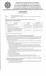 Jadwal dan Prosedur Penetapan Kelompok Uang Kuliah Tunggal (UKT) Mahasiswa Baru UIN Suska Riau Tahun Akademik 2021/2022